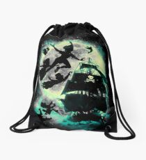 Take me to Neverland Drawstring Bag