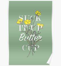 Saugen Sie es Butterblume auf Poster