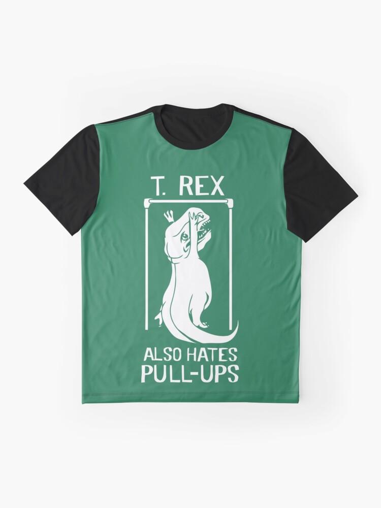 Alternative Ansicht von Der Flash (Cisco-Shirt) - T-Rex hasst auch Klimmzüge Grafik T-Shirt