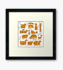 Cute orange cats Framed Print