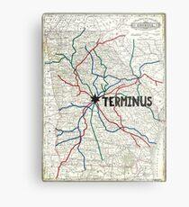 The Walking Dead - Terminus Map Metal Print
