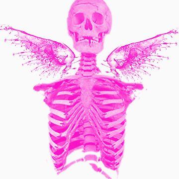 Winged Skull Girl by cityofevil82