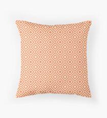 Geometric Vintage Orange Throw Pillow