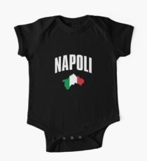 Napoli - Naples Italy Italian Flag Short Sleeve Baby One-Piece