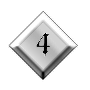 NUMBER 4, 4, Four, Fourth, Quad, Goth, Gothic, Minster Type by TOMSREDBUBBLE