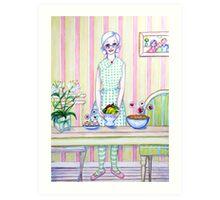 Granny Content Series 1 Art Print