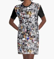 Elvis Presley Collage T-Shirt Kleid