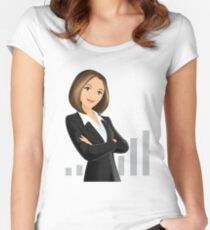 Businesswoman Women's Fitted Scoop T-Shirt