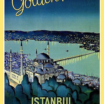Vintage Golden Horn Istanbul Turkey travel  by aapshop