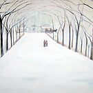 The  Silent Snowfall  Walk  /  Central  Park  NYC      by fiat777