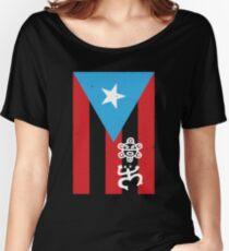 Puerto Rico Flag Boricua T-Shirt Women's Relaxed Fit T-Shirt