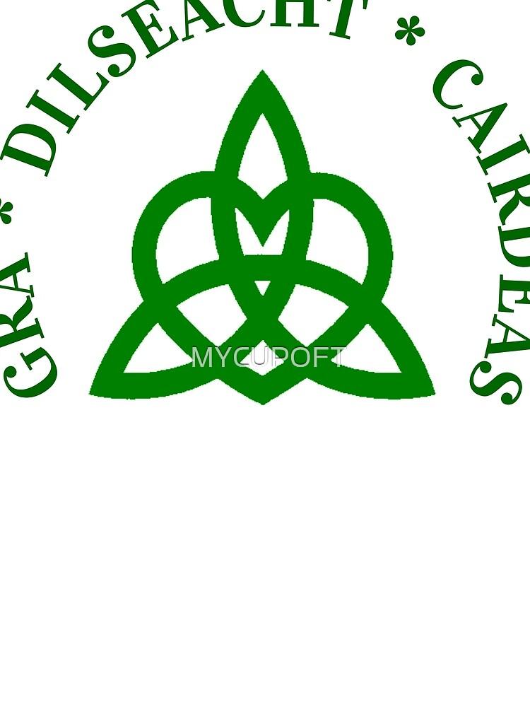 Gaelic Irish T Shirt Friendship Loyalty Love Celtic Knot Womens