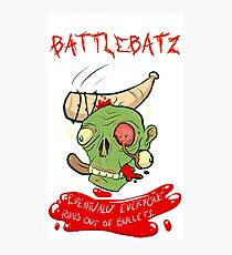 BattleBatz zombie  Photographic Print