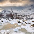 Glen Etive. A Reluctant Sun . Highlands of Scotland. by PhotosEcosse