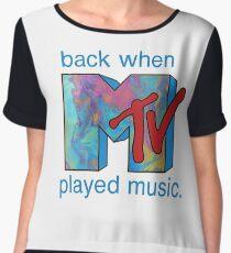 Back When MTV Played Music Women's Chiffon Top