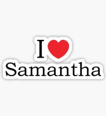 I Love Samantha - With Simple Love Heart Sticker