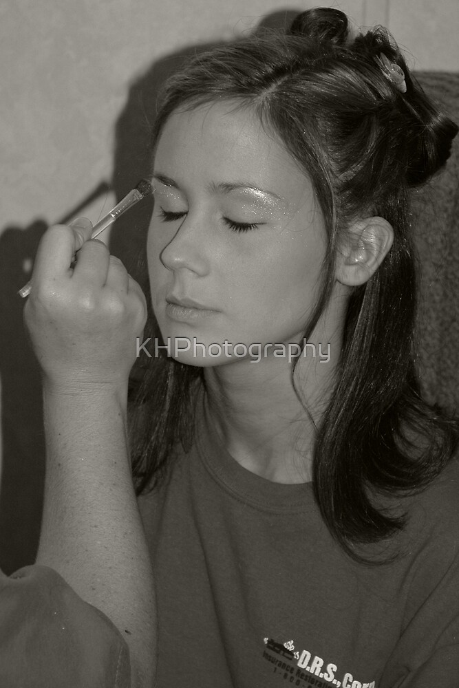Putting On Makeup by KHPhotography