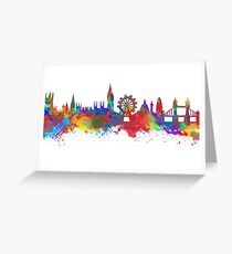 Watercolor art print of the skyline of London Greeting Card