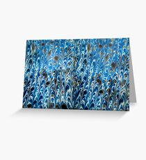 marbled paper - ink blue sea Greeting Card