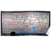 Tokyo Subway Map !!!!! Poster