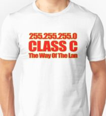 Subnet mask 255.255.255.0! Unisex T-Shirt