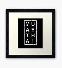 Stylish Muay Thai Framed Print