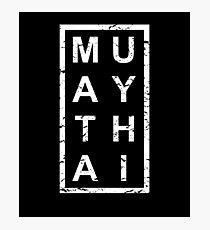 Lámina fotográfica Stylish Muay Thai