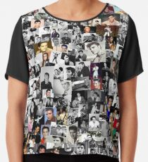 Elvis presley collage Chiffon Top