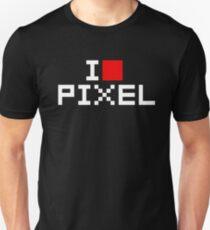 A retro love, I love pixel Unisex T-Shirt