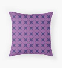 Purple Star Throw Pillow