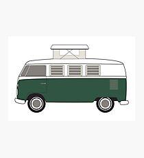 retro green bus camper Photographic Print