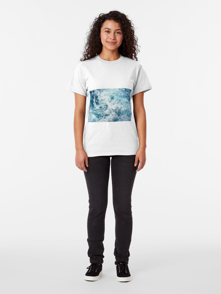 Alternate view of Sea Waves in the Ocean Classic T-Shirt