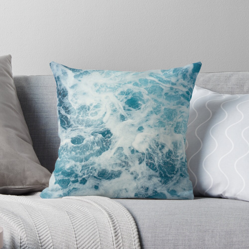 Sea Waves in the Ocean Throw Pillow