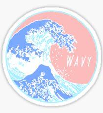 Aesthetic Great Wave Wavy Sticker