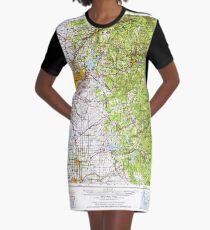 USGS TOPO Map California CA Sacramento 299861 1957 250000 geo T-Shirt Kleid