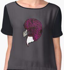 foxtail purple Women's Chiffon Top