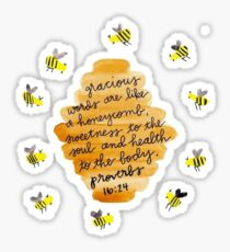 proverbs 16:24 Sticker