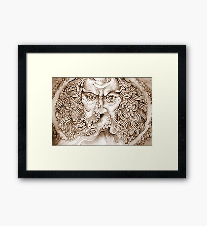 the garden god II - tribute to norman © patricia vannucci 2008  Framed Print