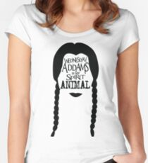 Wednesday Addams Spirit Animal Women's Fitted Scoop T-Shirt