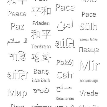 Multilingual Peace by LGBT-shirts