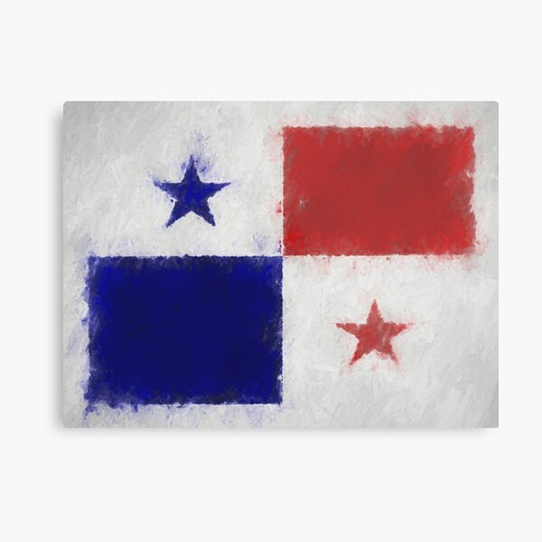 Panama Flag Reworked No. 66, Series 4 Metal Print