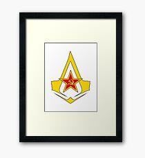 Assassin's Creed Communist geek nerd anonymous revolution Framed Print