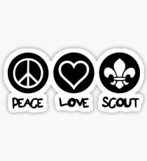 Peace Love Scout Sticker