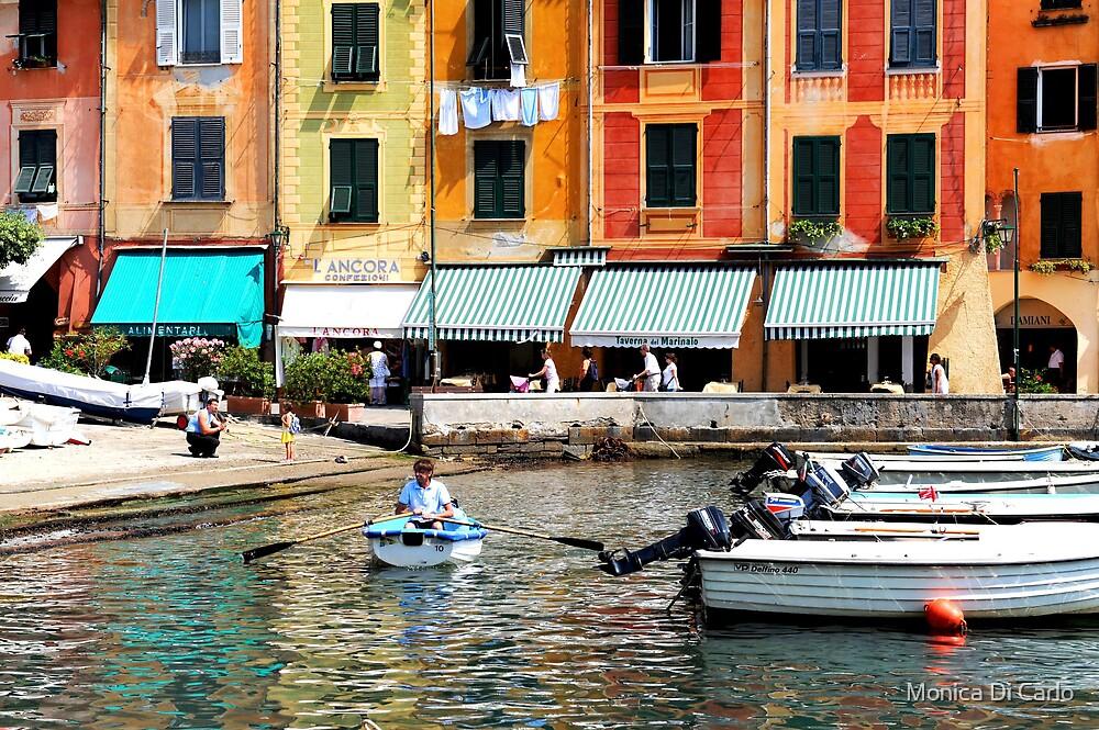 Portofino houses, Italy by Monica Di Carlo