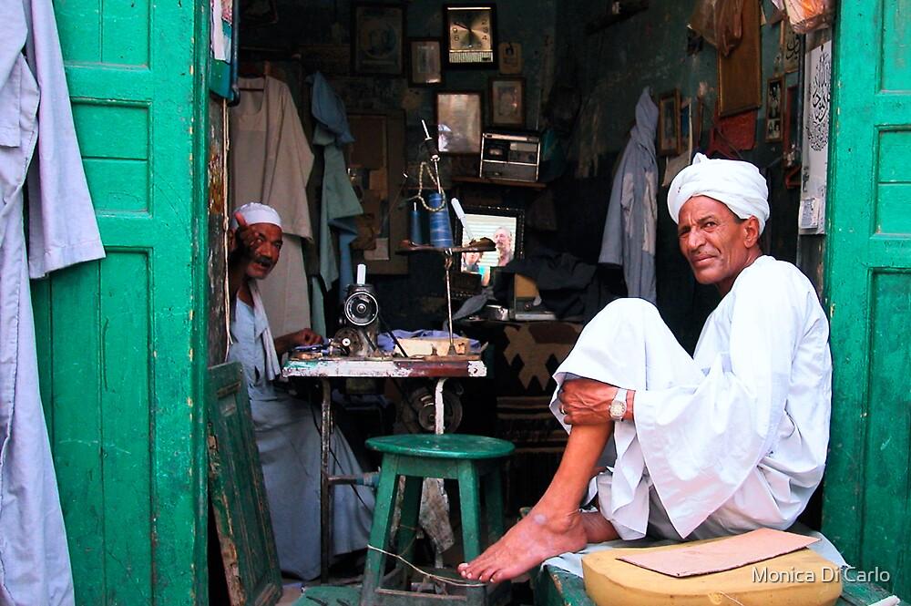 Men in a Luxor market (Egypt) by Monica Di Carlo
