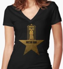 Doctor Who - Hamilton Crossover Women's Fitted V-Neck T-Shirt