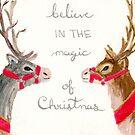 Santa's Reindeer by Justine Lombardi