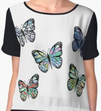 Cute Patterned, Flying Butterflies Pack of 5 Chiffon Top