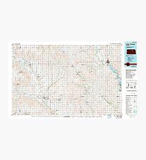 USGS TOPO Map Kansas KS Clay Center 512896 1985 100000 Photographic Print