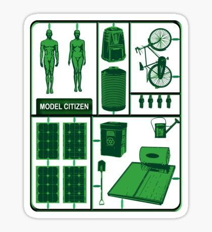 Model Citizen Sticker